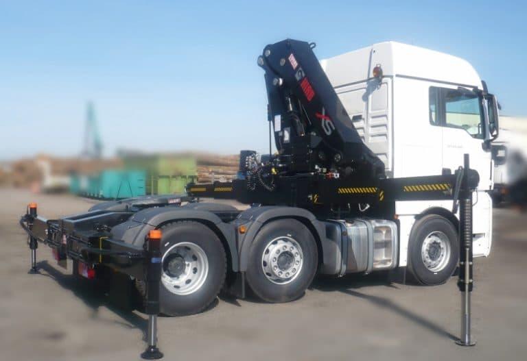 Hiab 377 HIPRO sur tracteur MAN TGX