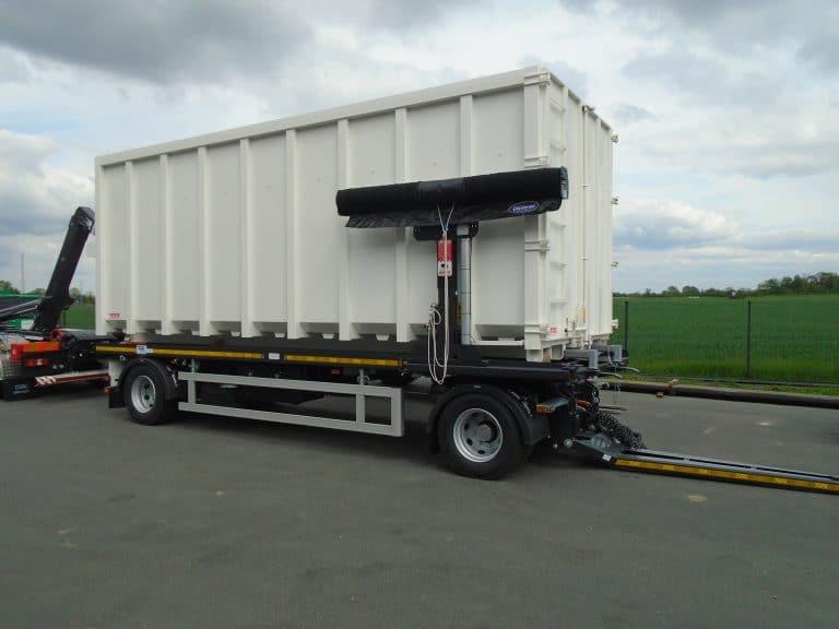 Bras Multilift avec caisson et remorque porte-caisson Trax