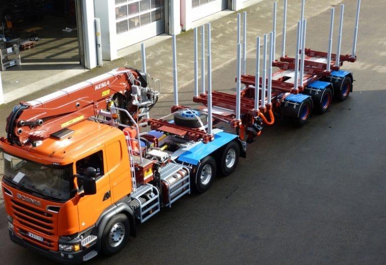 Semi-remorque extensible – Grue Kesla tracteur